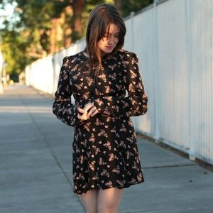 Reformation Long Sleeve Floral Dress